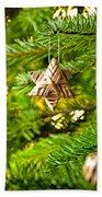 Ornament In A Christmas Tree Bath Towel