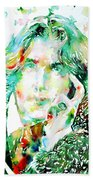 Oscar Wilde Watercolor Portrait.2 Hand Towel