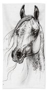 Ostragon Polish Arabian Horse 3 Bath Towel