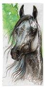 Ostragon Polish Arabian Horse Painting   Bath Towel