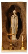 Our Lady Of Lourdes Bath Towel