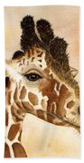 Out Of Africa's Giraffe Bath Towel