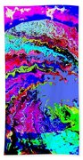 Out Of The Blue Wave Abstract Bath Towel
