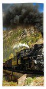 Over The Animas River Bath Towel