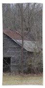Overgrown Old Horse Barn Bath Towel