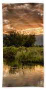 Owens River Sunset Hand Towel