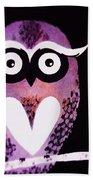 Owl 3 Bath Towel