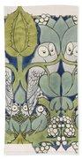 Owls, 1913 Bath Towel