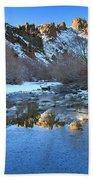 Owyhee River Reflection Desert Light Bath Towel