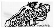 Pacific Biological Laboratories Of Pacific Grove Circa 1930 Bath Towel