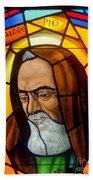 Padre Pio Bath Towel