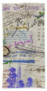 Page From The Madwoman's Notebook Bath Towel