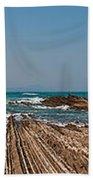 Pages Into The Sea No1 Bath Towel