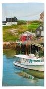 Peggy's Cove Boat Tours Bath Towel