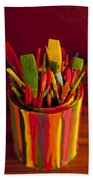 Paint Can And Paint Brushes Still Life Bath Towel