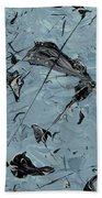 Paint Fossils Bath Towel