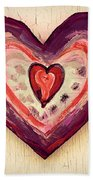 Painted Heart Bath Towel