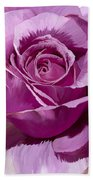 Painted Purple Rose  Bath Towel