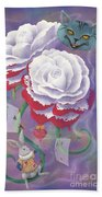 Painted Roses For Wonderland's Heartless Queen Bath Towel