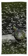 Painted Turtle Sleeping Like A Log Bath Towel