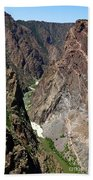 Painted Wall Black Canyon Of The Gunnison Bath Towel