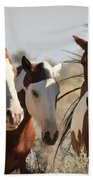 Painted Wild Horses Bath Towel