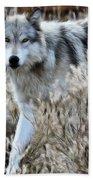 Painted Wolf Bath Towel