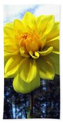 Painted Yellow Dahlia Bath Towel