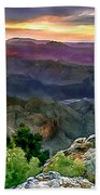 Painting Of Desert View Grand Canyon Bath Towel