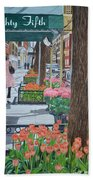 Painting The New York Street Bath Towel
