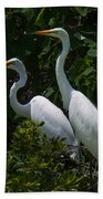 Pair Of Herons Bath Towel
