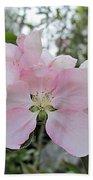 Pale Pink Crabapple Blossom Bath Towel