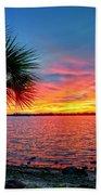 Palm Beach Sunset Bath Towel