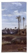 Palm Forest In Elche Bath Towel