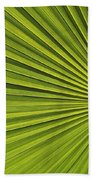 Palm Fron Abstract Bath Towel