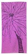Palm Purple Bath Towel