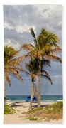 Palm Trees At The Beach Bath Towel