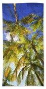 Palm Trees Of Aruba Bath Towel