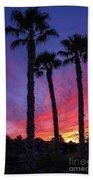 Palm Trees Sunset Bath Towel