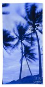 Palms In Storm Wind-bora Bora Tahiti Bath Towel