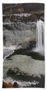 Palouse Falls In Winter Bath Towel