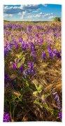 Palouse Falls Wildflowers Bath Towel