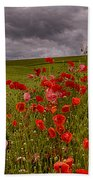 Palouse Poppies Bath Towel