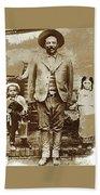 Pancho Villa  Portrait With Children No Location Or Date-2013 Bath Towel