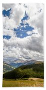 Panorama Atop Independence Pass Bath Towel