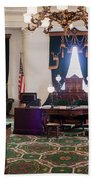 Panorama Of The Vermont State House Montpelier Vermont Bath Towel