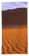 Panoramic Mesquite Sand Dune Patterns Death Valley National Park Bath Towel