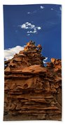 Panoramic Sunset Light On Sandstone Formations Fantasy Canyon  Bath Towel