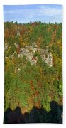 Panoramic View Of The Elbe Sandstone Mountains Bath Towel