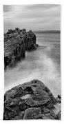 Ballycastle - Pans Rock To Rathlin Island Bath Towel